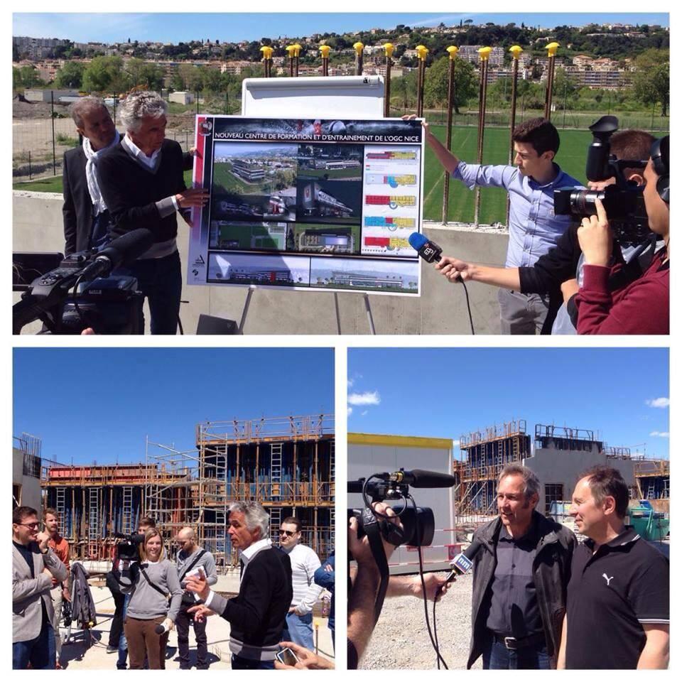 Visite du chantier du nouveau centre d'entraînementde l'OGC Nice avec les abonnés de Nice-Matin