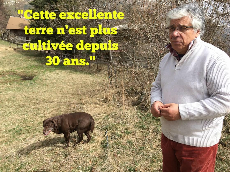 """Serge Marleuf, propriétaire qui prête ses terres à l'Association """"Les potagers de la Vésubie""""."""