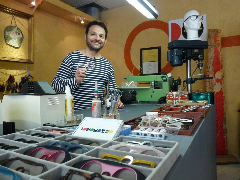 Florent Grellet designer de lunettes au Cannet est accompagné par Acticop