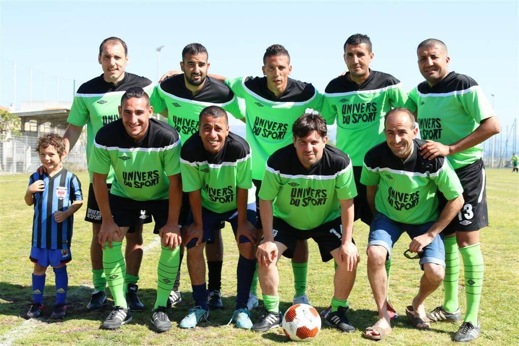 Univers Sport (en vert) s'est qualifié, hier, pour la phase finale.