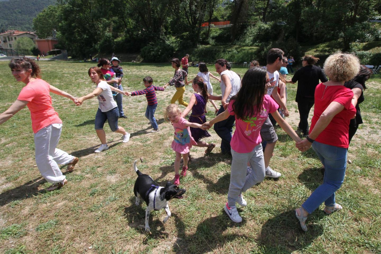 Sur le Pré Tardivo, les quelques participants se sont bien amusés.