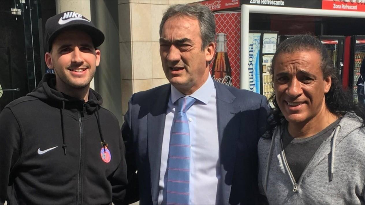 Le président du club monégasque de futsal, Jean-Claude Haddad (à droite), a rencontré Javier Lozano Cid, président de la Ligue espagnole, afin de développer ce sport en Principauté et y organiser un événement prochainement.
