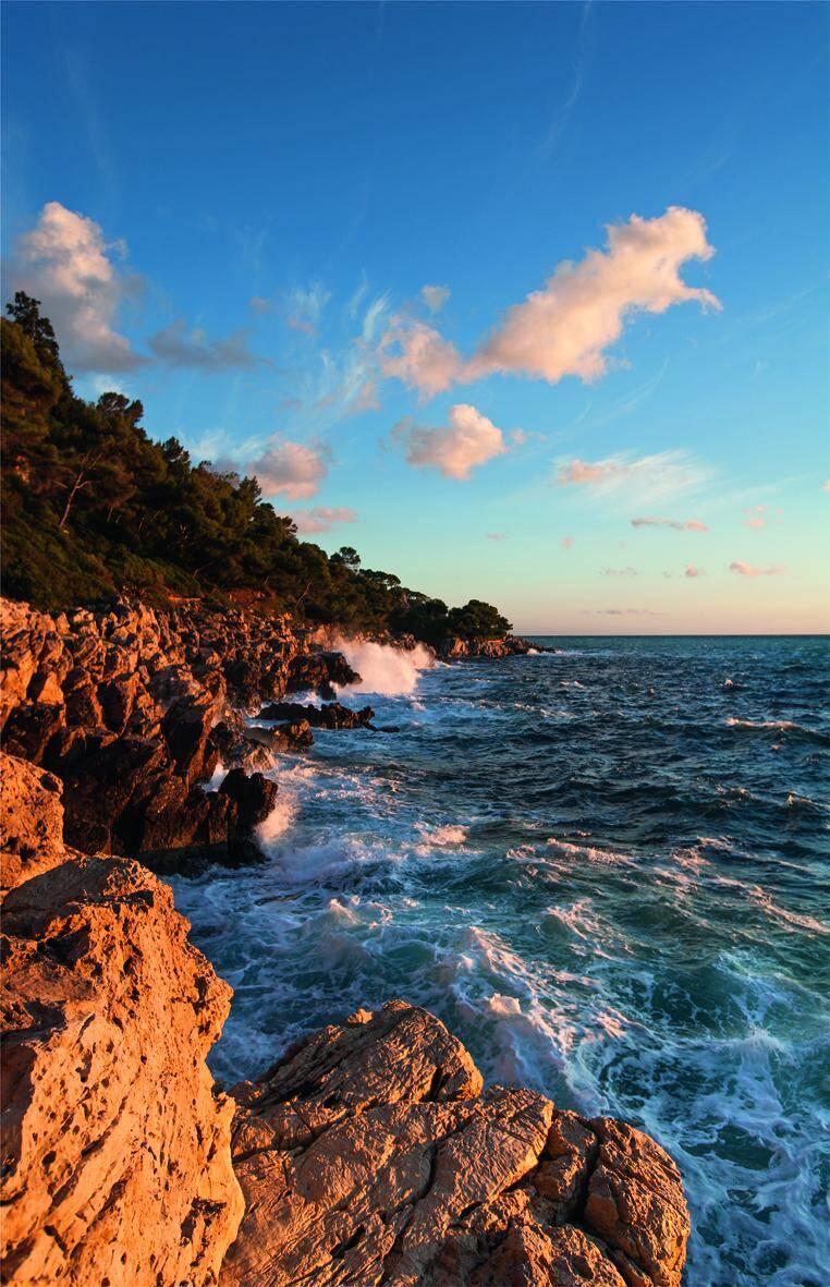 Les roches acérées protègent à l'ouest le littoral sauvage du cap.