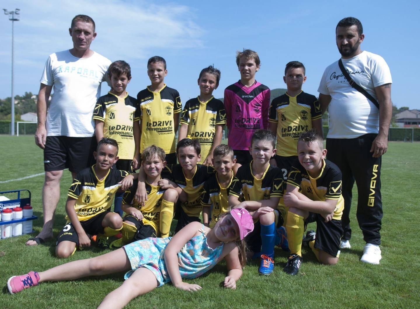 L'équipe U10 de Taradeau.