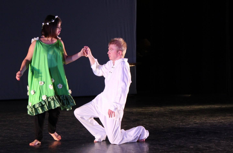 Le 4 novembre dernier au Palais de l'Europe, la troupe et ses accompagnants ont proposé au public mentonnais sa 8e création : « Theogonia, de l'ombre à la lumière ».