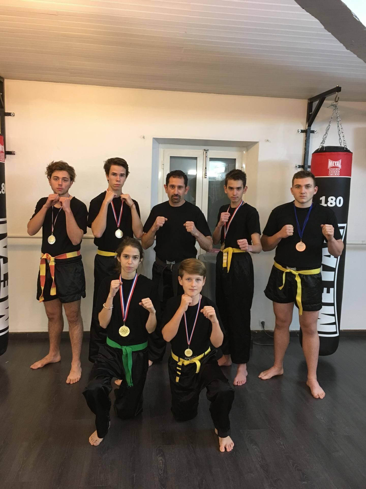 Les combattants de l'école Sports de combat Antibes ont réalisé une belle performance.(DR)