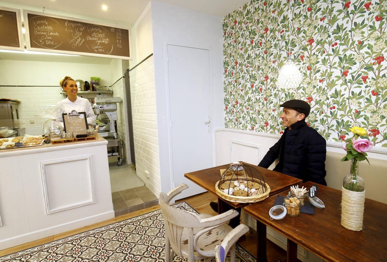 """Maison """"Charlotte Busset"""", c'est ainsi que s'appelle ce salon de thé en hommage à la grand-mère maternelle de la patronne"""