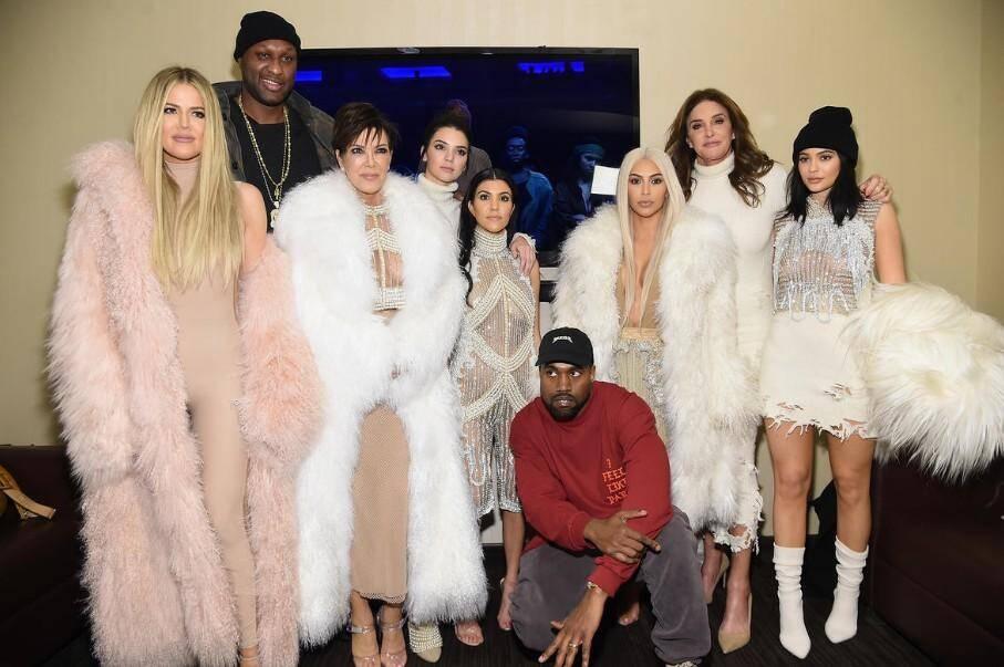 La famille lors du défilé de mode de Kanye West en février.
