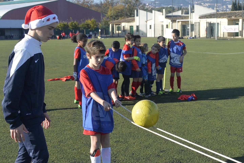 Les jeunes joueurs de l'école de rugby du ROG ont passé une superbe après-midi, mercredi sur le synthétique de Plascassier.
