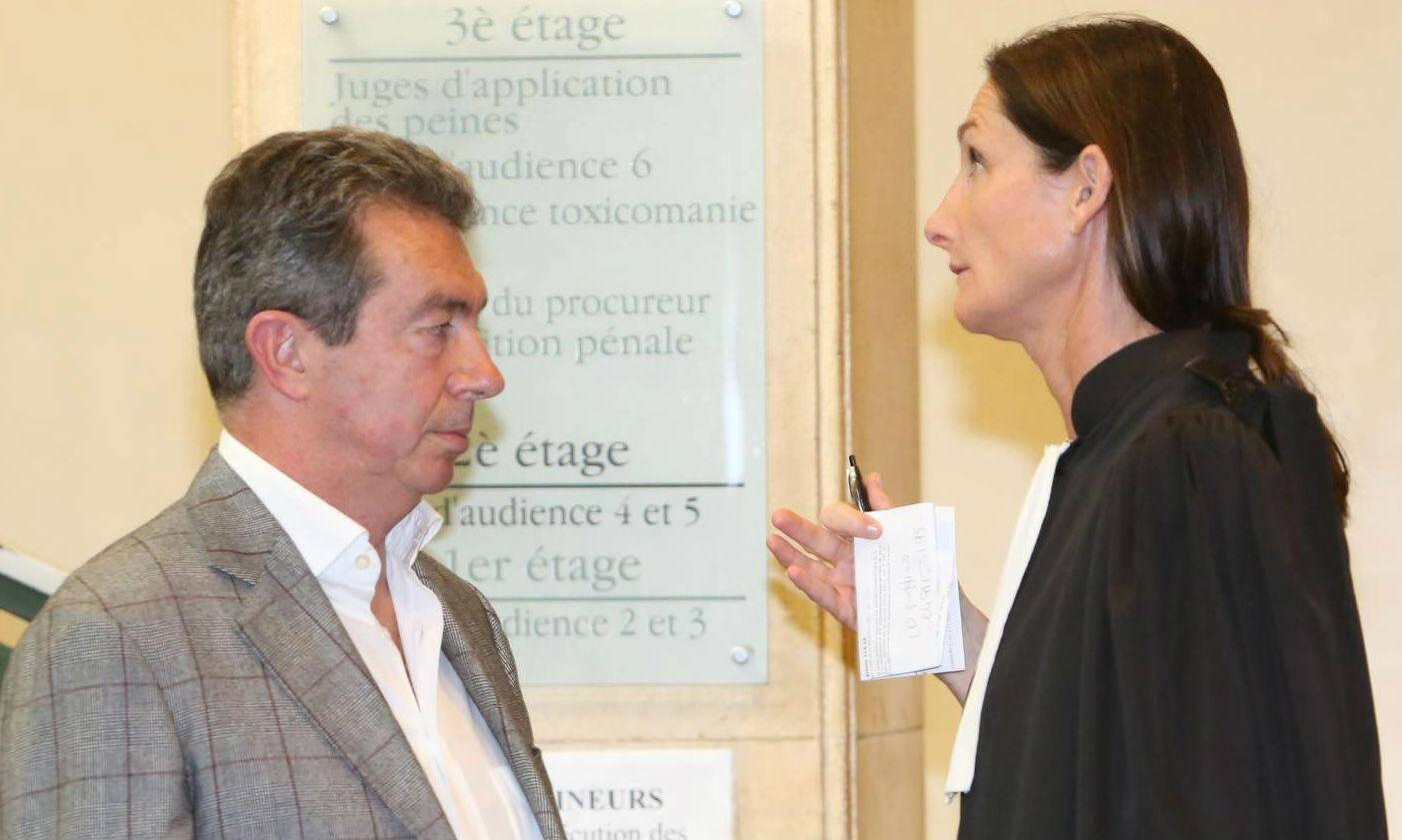 Silvio Perlino et son avocate Me Valérie Serra.