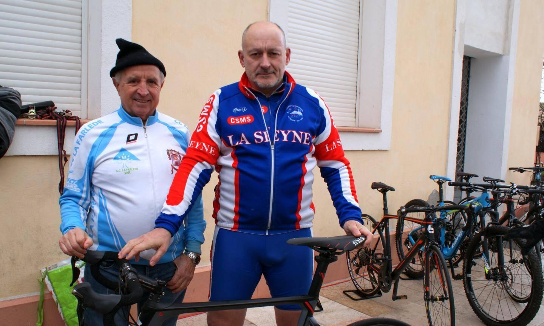 Deux fidèles de la sortie, très en forme : José (71 ans), vétéran du CC Farlédois, et Franck (50 ans) du CSM La Seyne.