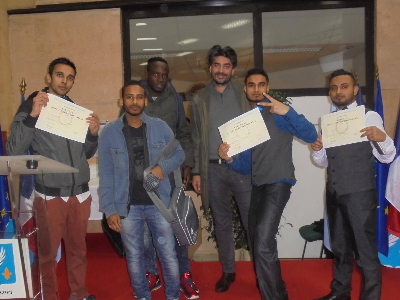 L'école a accueilli neuf mineurs isolés étrangers comme apprentis, qui ont tous réussi leur formation.