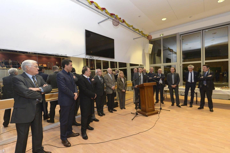 Eric Mèle, maire de Gourdon et président du PNR, salle de la Bigarade, dimanche soir.