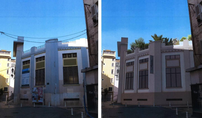 Les Halles avant / après