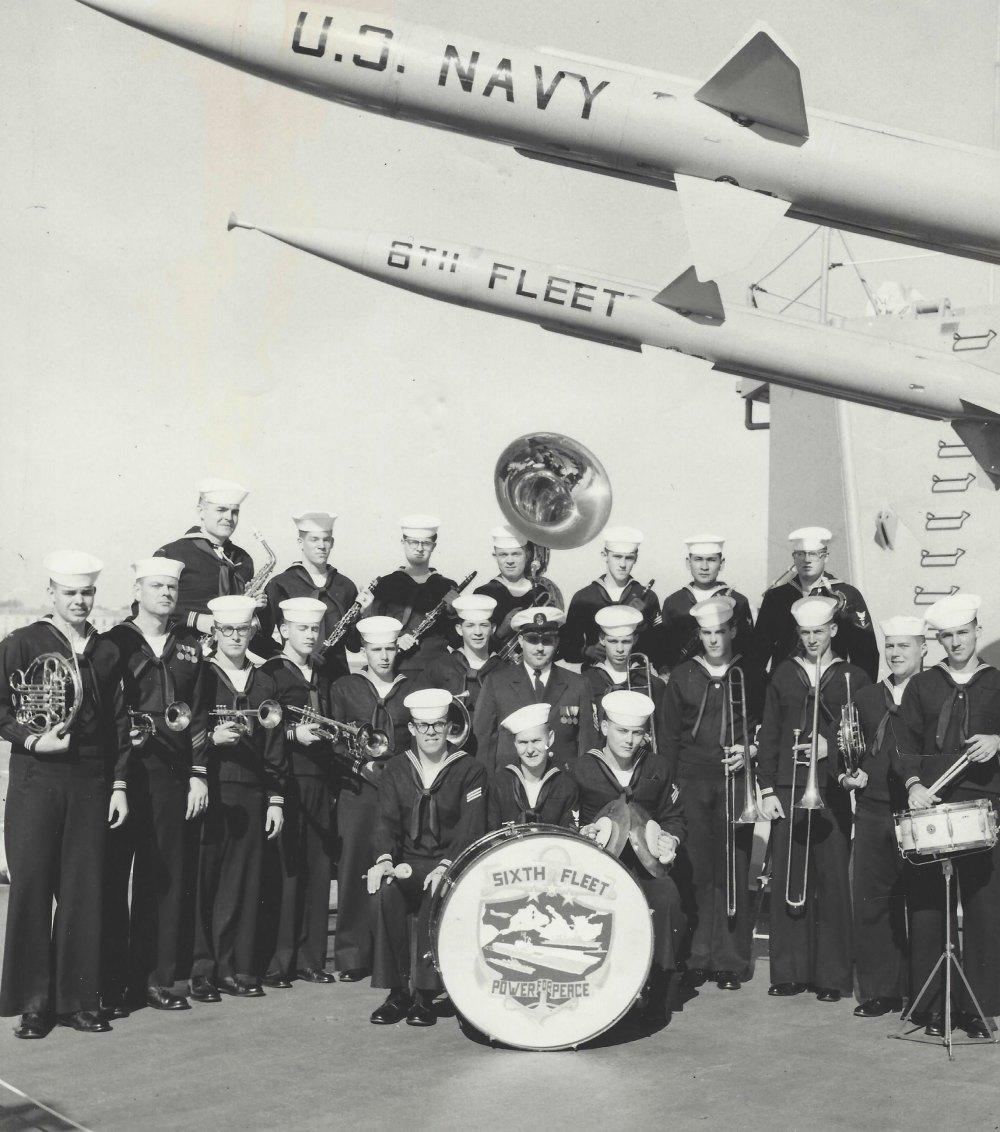 L'orchestre de la 6e flotte américaine.