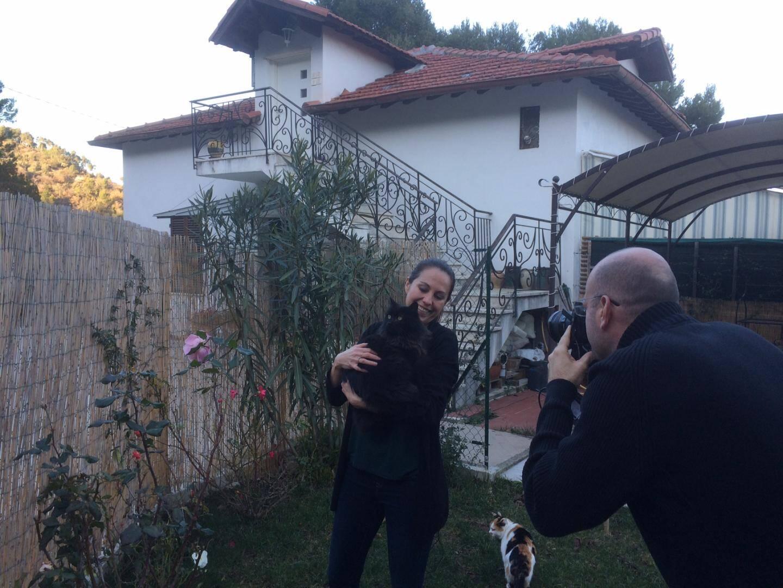 En quittant Menton pour Camporosso en Italie, Céline a un logement bien plus vaste.
