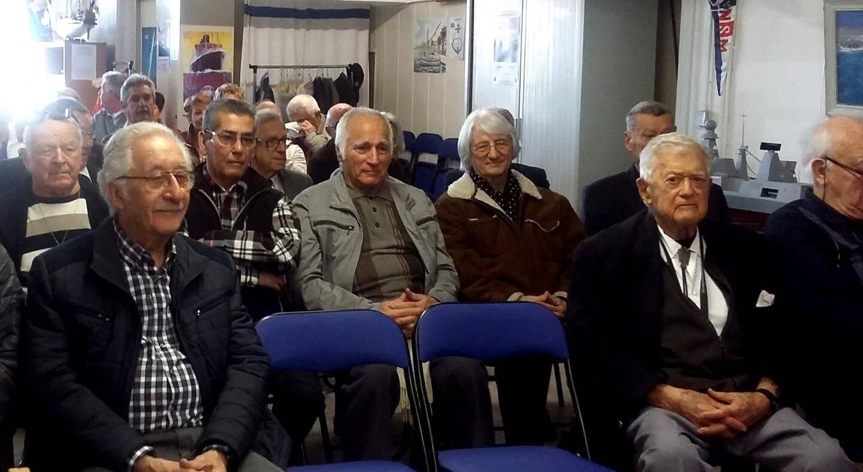 Les anciens marins et leurs invités sont venus nombreux témoigner de leur intérêt pour l'Ammac.