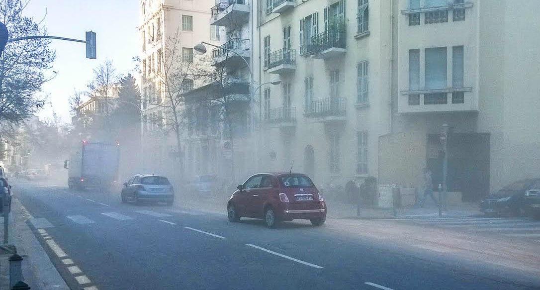 Le boulevard de Cessole mardi matin.