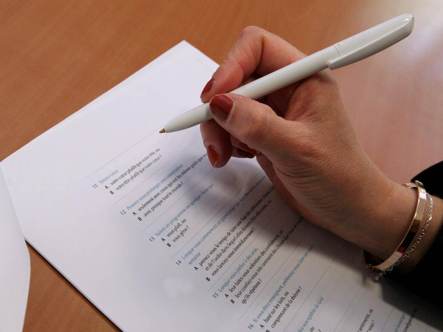 La plupart des consultants s'appuient sur des tests.