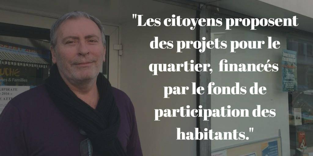 Daniel Chuzel, directeur du centre social La Ruche (La Semeuse).