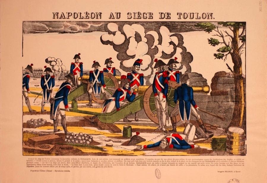 C'est l'une des rares gravures représentant l'officier Napoléon-Bonaparte.(Photo-repro DR)