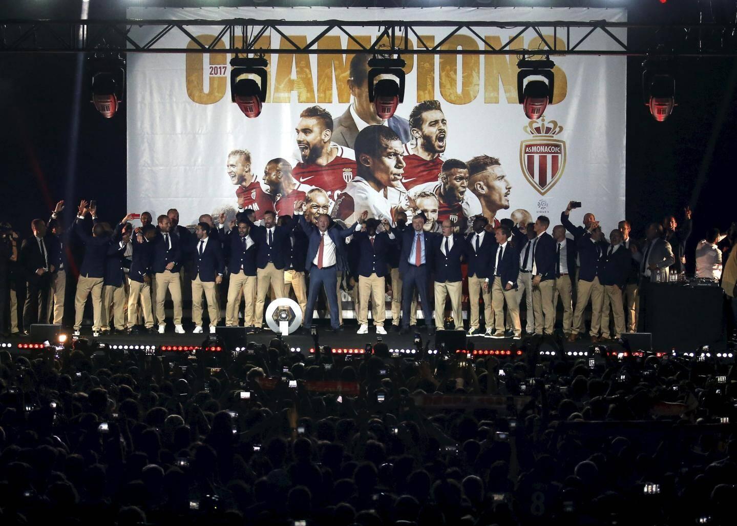 Fête du titre de champion de France de Ligue 1 2016/2017 de l'AS Monaco au Chapiteau de Fontvieille
