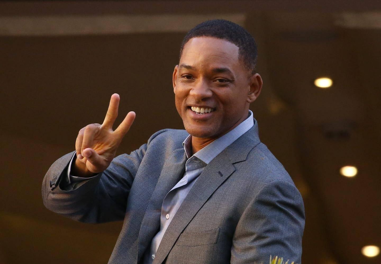 L'acteur et producteur Will Smith arrive à l'hôtel Martinez de Cannes.