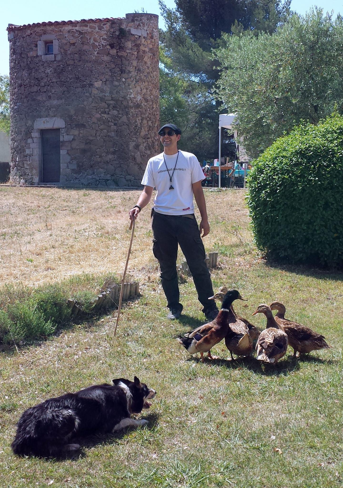 Emmanuel, Flam et les canards vedettes de la journée.
