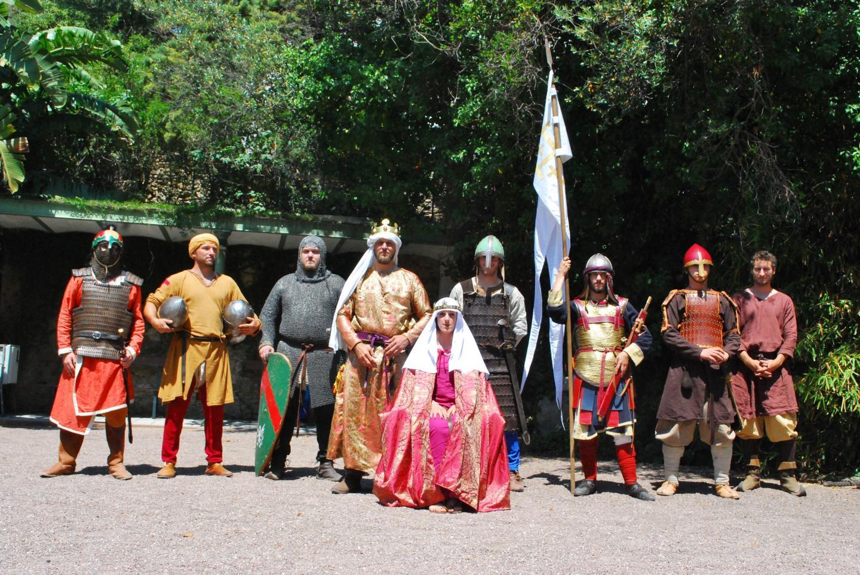 La troupe des seigneurs d'Orient ont reconstitué un village médiéval.