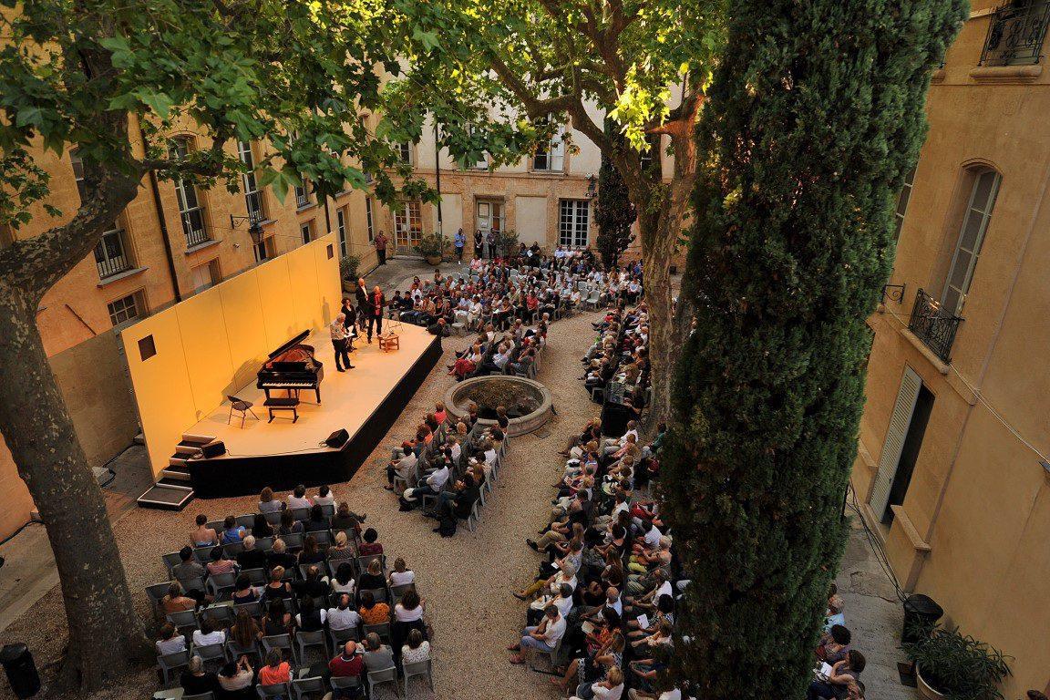 La cour de l'Hôtel Maynier d'Oppède va servir d'écrin aux musiciens.