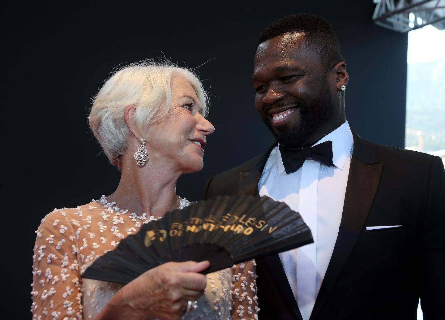 Regards tendres et complices entre Helen Mirren et 50 Cent.