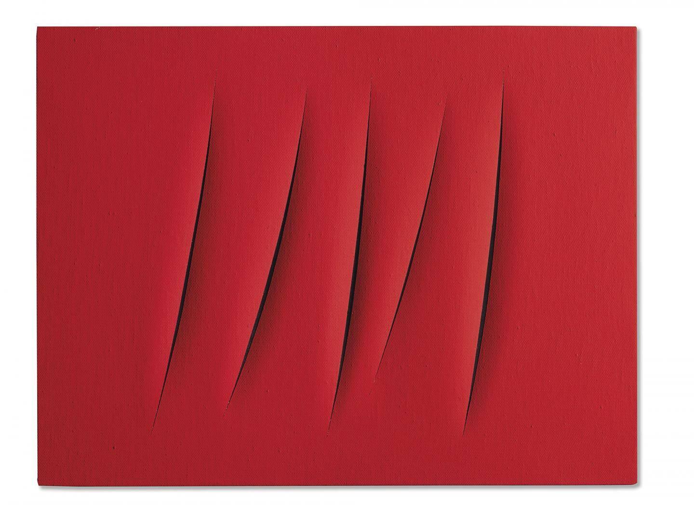 Lucio Fontan, Concetto spaziale, Attese. Peint en 1962-1963. Estimation 2.500.000-3.500.000 euros.