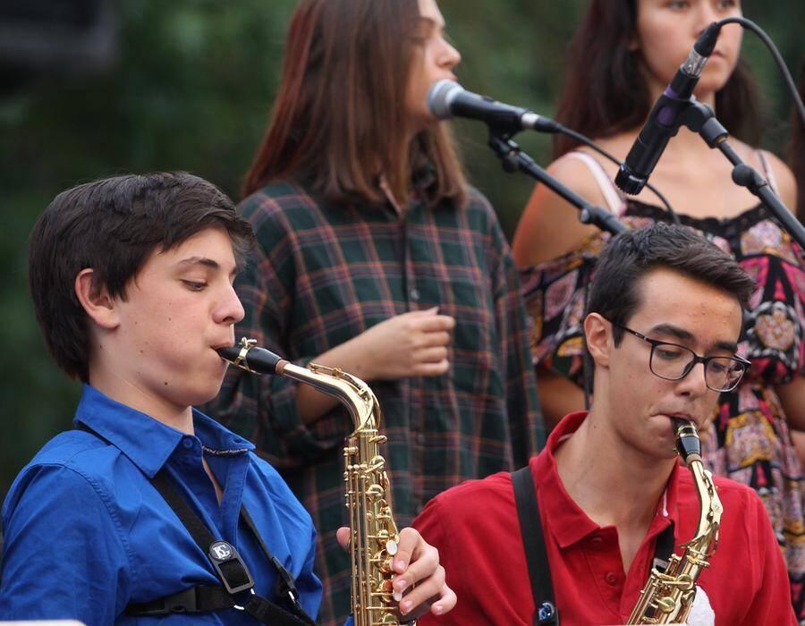 Le Big band CIV, sur le Pré de l'hôtel de ville