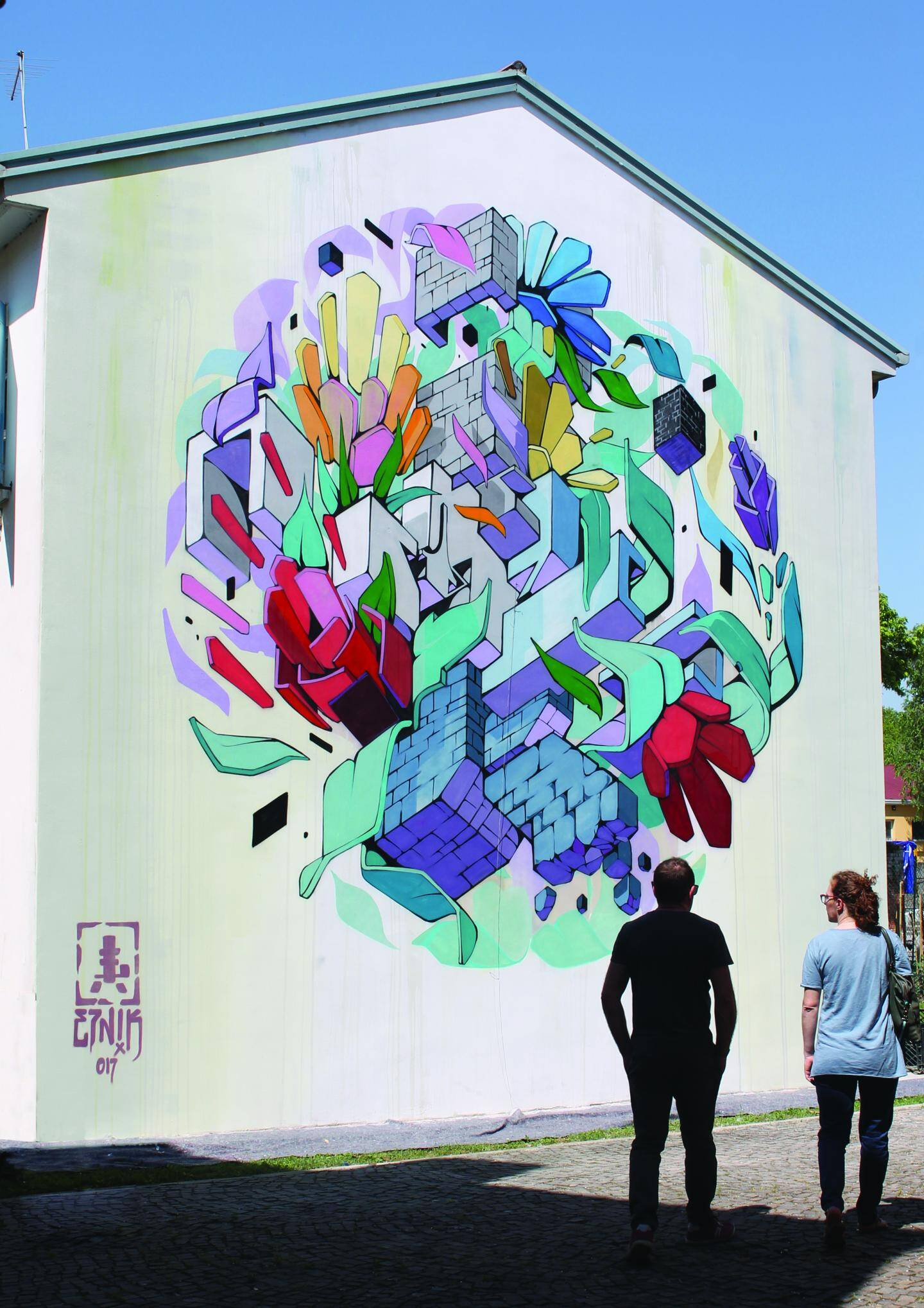 Parmi les artistes invités, le travail intéressant de l'Italien Etnik Coppia sera à découvrir, parmi une petite dizaine de graffeurs venus de toute l'Europe. (DR)