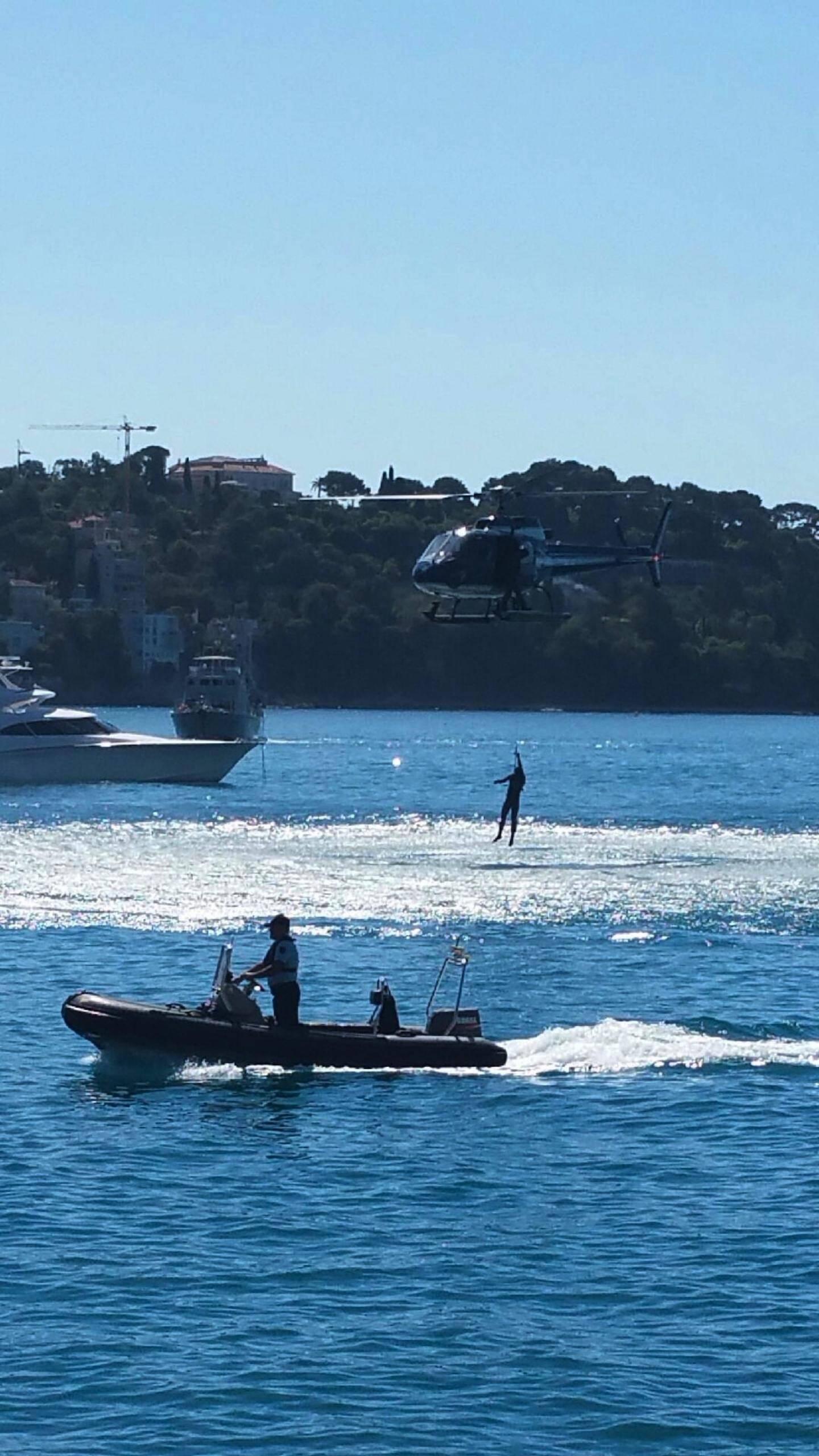 Les touristes ont pu assister à un exercice de sauvetage en mer.