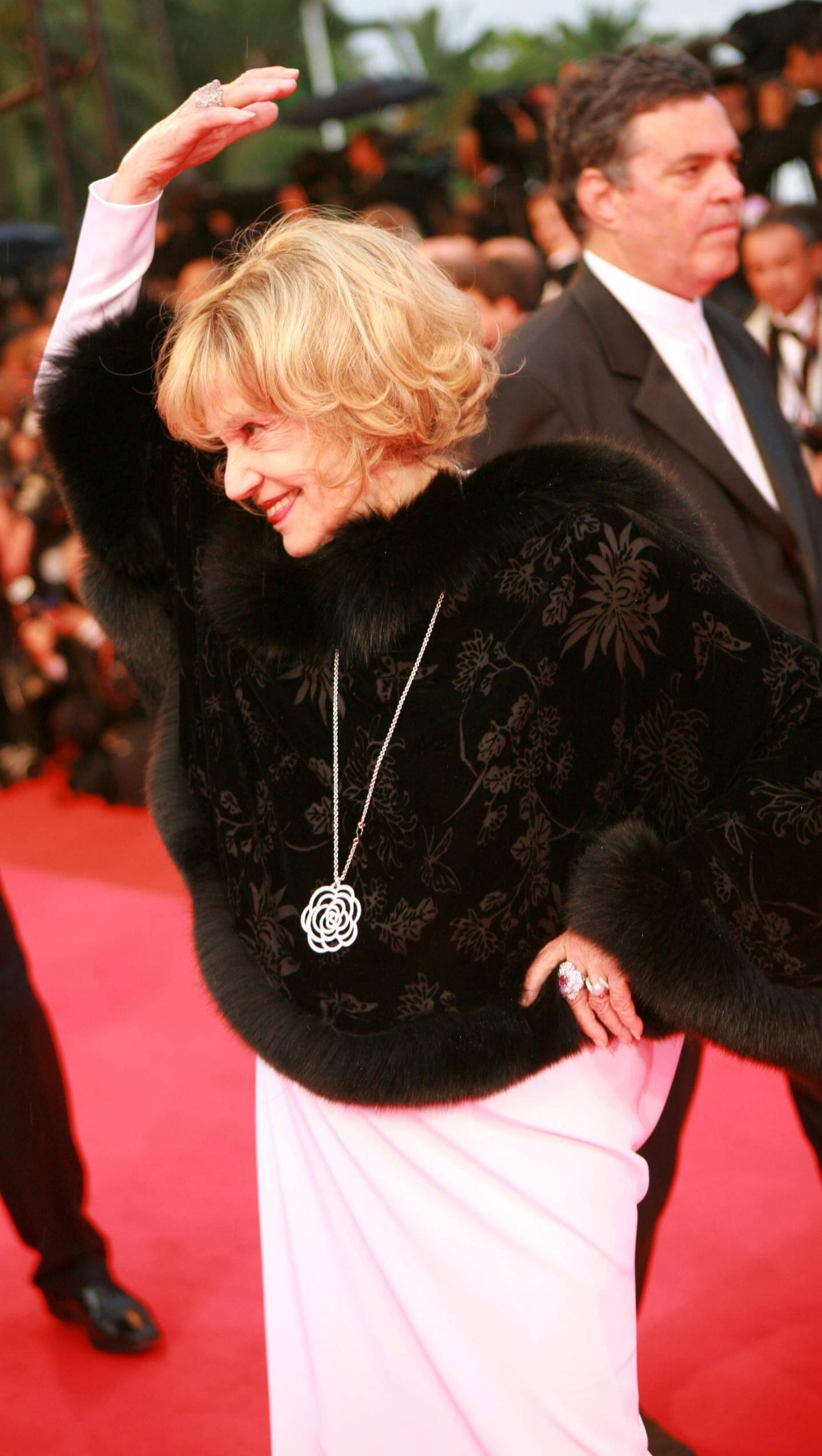Jeanne Moreau au Festival de Cannes en 2008.