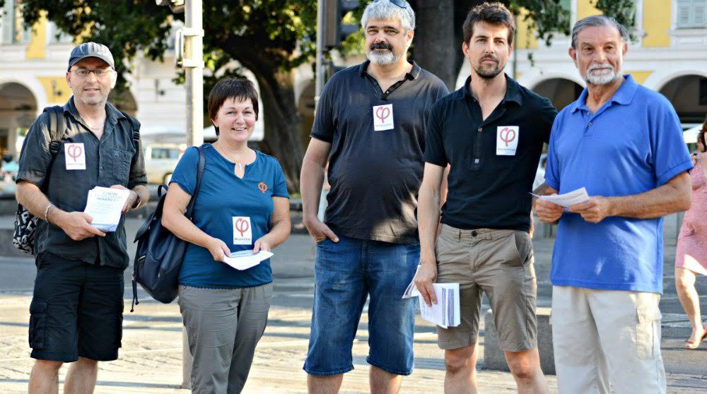 A Nice, plusieurs dizaines de militants se sont rassemblés place Garibaldi.