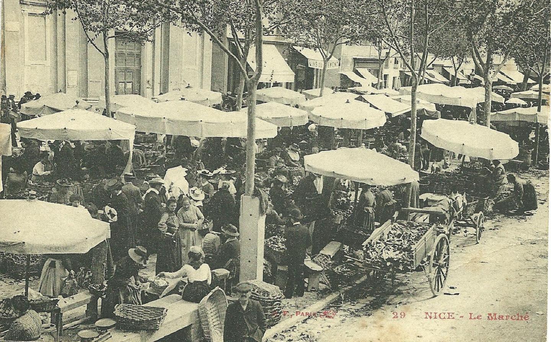 Le marché aux légumes au début des années 1900.