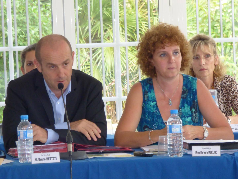 Le maire, Bruno Bettati, et l'adjointe à l'urbanisme, Barbara Merlino.