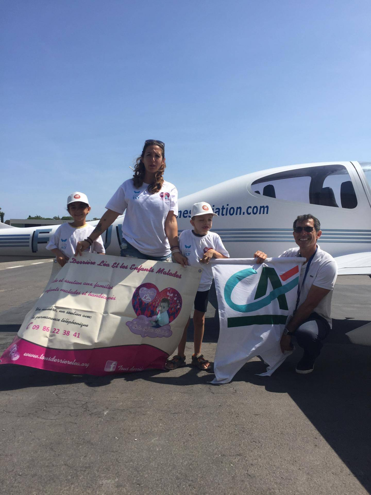 Let your dreams fly organise une cinquantaine de vols toute l'année, avec l'association varoise et plusieurs hôpitaux.