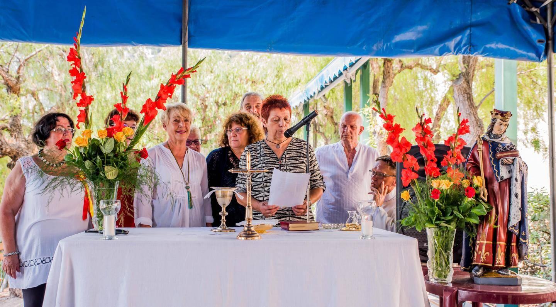 Maryse Scourzic, en compagnie de son équipe, s'est exprimée au terme de la messe.