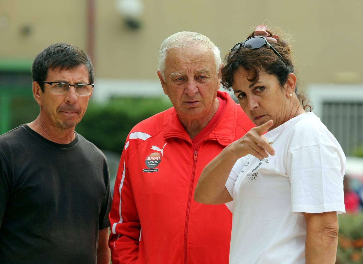 Thierry Belluci, Jean-Claude Brunosalel et Danielle Autran, de Saint-Maximin.