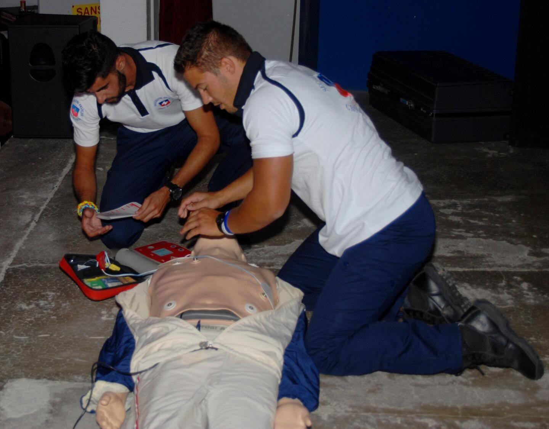 Les secouristes de la Croix-Blanche et le Samu ont procédé à plusieurs démonstrations.