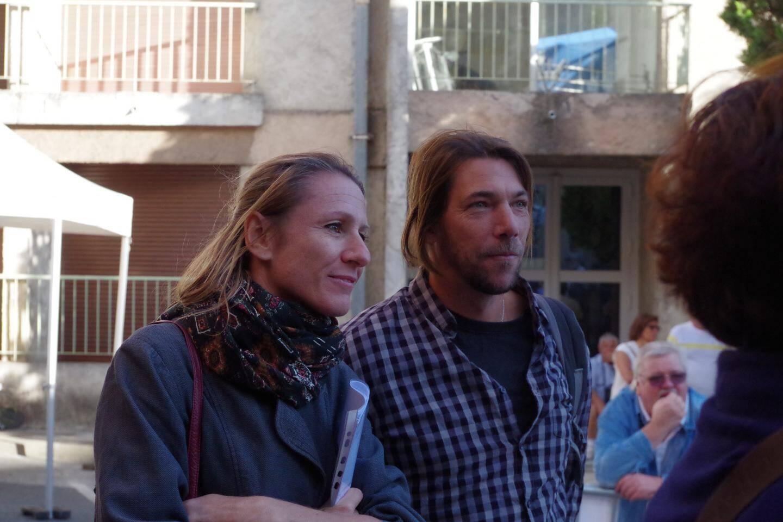Sandrine et Yann, les auteurs du beau trompe-l'œil.