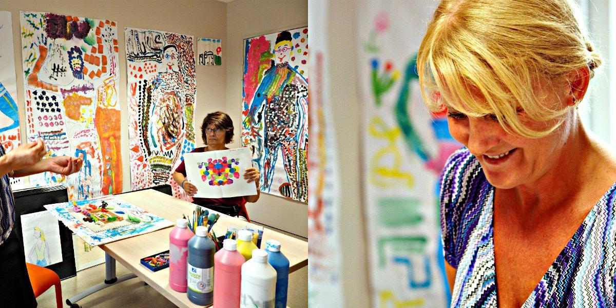« Derrière chaque dessin, l'histoire de la personne qui l'a réalisé est bien présente », souligne Vaia Eleftheriou, psychologue et art-thérapeute au sein du Foyer d'aide médicalisée.