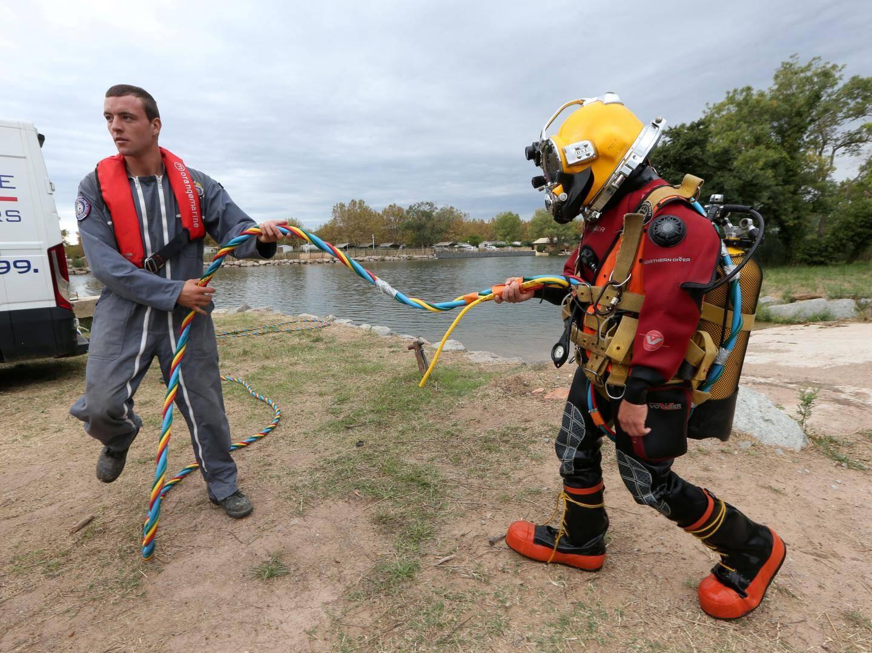 Après la théorie, il y a aussi la pratique comme ici, au sein du camp marin du 21e RIMa où peuvent s'entraîner les aspirants scaphandriers.