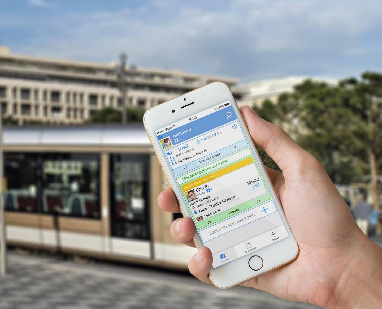 Sur son smartphone, l'appli Wever vous trouve en temps réel un covoitureur.