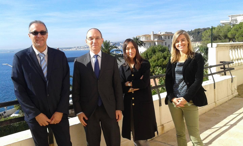 Le staff de l'ANFR : à partir de la gauche, Frédéric Huclin responsable régional, Gilles Bregant directeur, Lou Paradis et Isabelle Haubois chargées de communication.