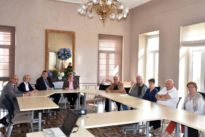 Le président Giraud a fait un point sur les dossiers de la commune soutenus par le conseil départemental.
