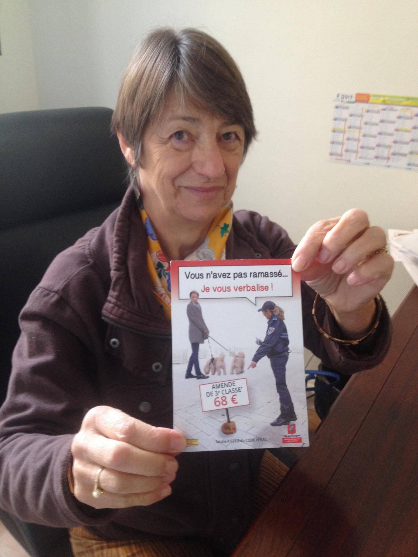 """Danielle Adoux-Copin: """"5 000 flyers ont déjà été distribués et on en a recommandé."""""""